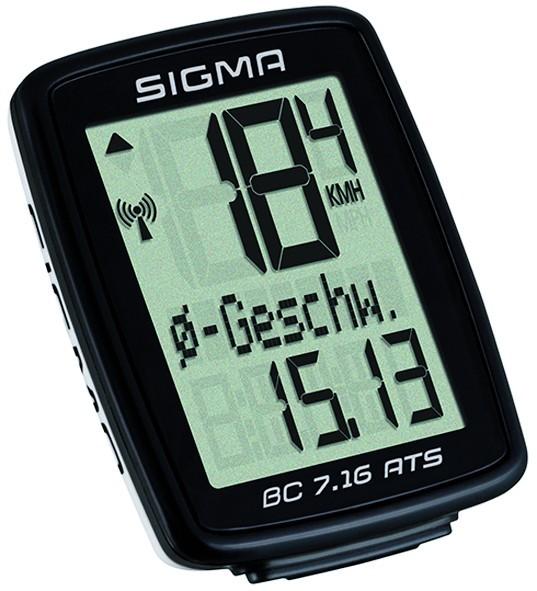 Sigma BC 7.16 ATS Fahrradcomputer schwarz-weiss