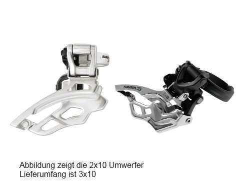 Sram X5 Umwerfer 3x10-fach High Clamp